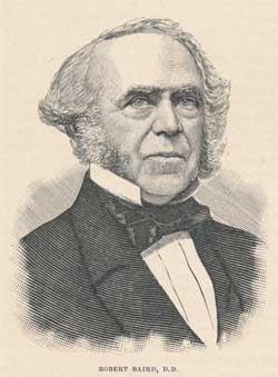 Robert Baird [6 October 1798 - 15 March 1863]