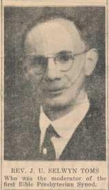J. U. Selwyn Toms,
