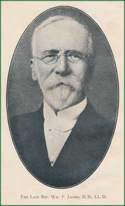Reverend William Plumer Jacobs, D.D., LL.D. [03/15/1842 – 09/1